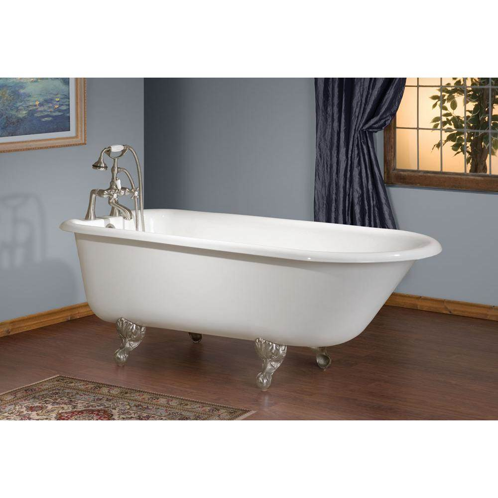 Cheviot Products Canada TRADITIONAL Cast Iron Bathtub with Continuous Rolled Rim