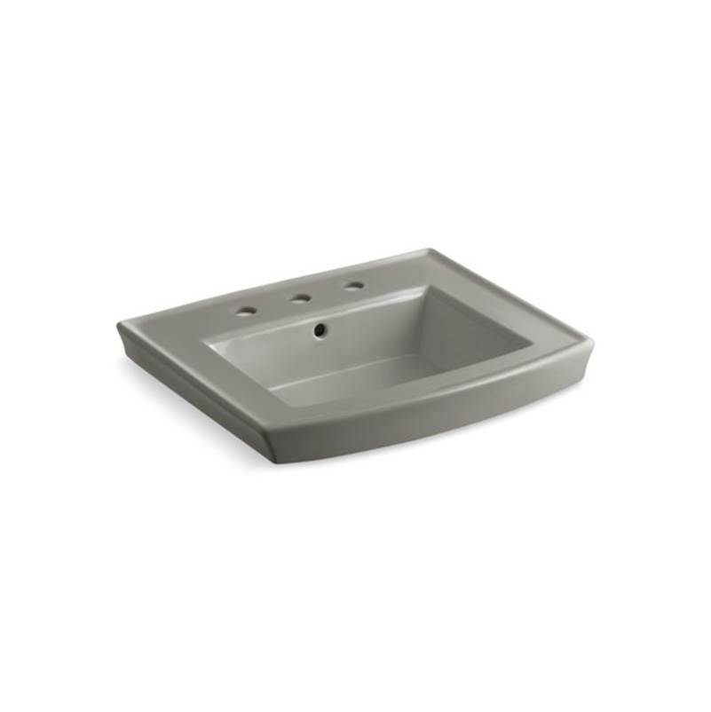 Kohler Archer® Pedestal bathroom sink with 8'' widespread faucet holes