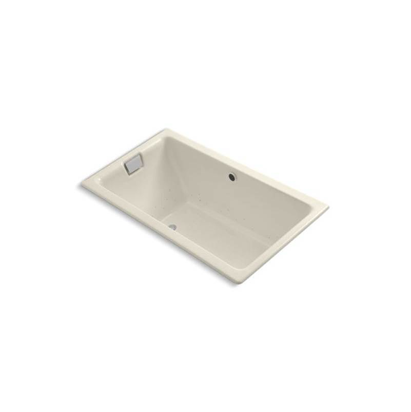 Kohler Tea-for-Two® 66'' x 36'' drop-in BubbleMassage™ air bath with Almond airjet finish