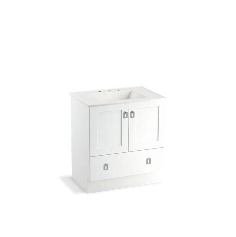 Kohler Poplin® 30'' bathroom vanity cabinet with toe kick, 2 doors and 1 drawer