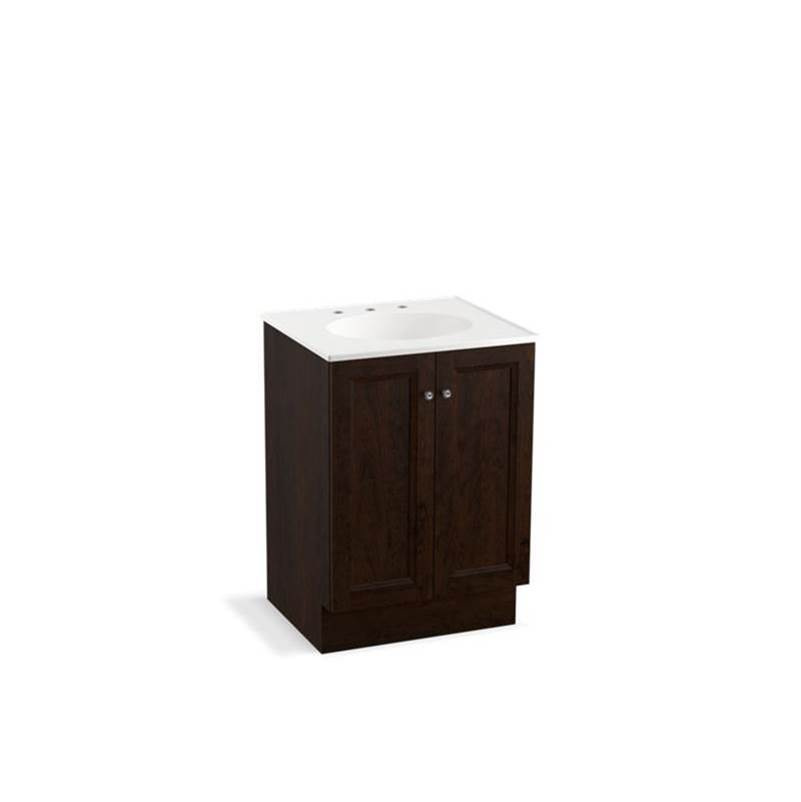 Kohler Damask® 24'' bathroom vanity cabinet with toe kick and 2 doors