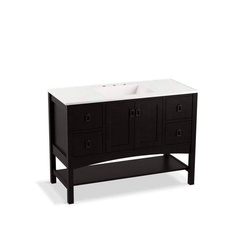 Kohler Marabou® 48'' bathroom vanity cabinet with 2 doors and 4 drawers