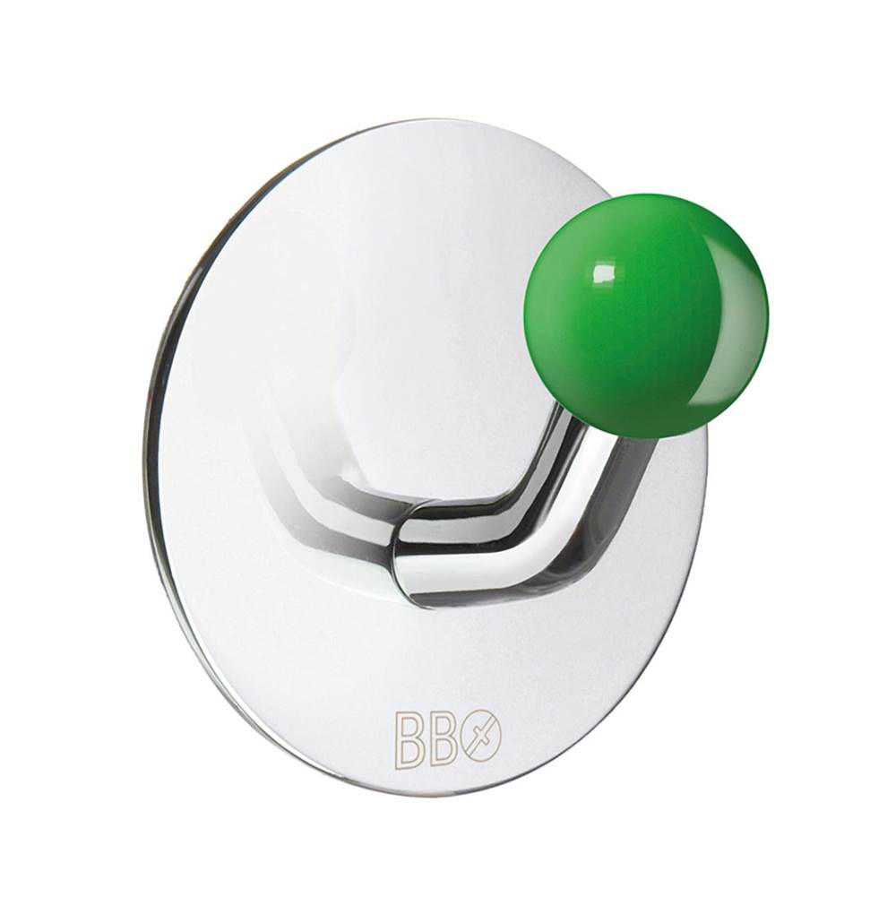 Smedbo Design Single Hook Stainless Polished/Green Knob